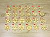 """Деревянные новогодние игрушки для украшения елки """"Снежинка"""" (форма №5) (2158), фото 3"""