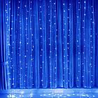 Гирлянда Штора светодиодная, 500 LED, Голубая (Синяя), прозрачный провод, 3х2м., фото 7