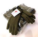Перчатки плотный флис Тинсулейт Польша - олива, черные., фото 4
