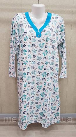 Нічні сорочки жіночі з довгим рукавом 100% бавовна Fazo-r, фото 2