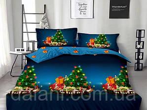 Полуторный новогодний комплект постельного белья