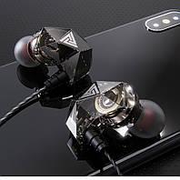Дротові навушники QKZ АК2 Mic однодрайверные динамічні з гарнітурою Original Чорний