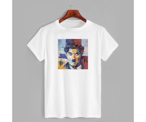Футболка с принтом Art Charlie Chaplin (Арт Чарли Чаплин)