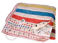 Электропростынь согревающая простынь электрическая с сумкой Electric blanket 150170 разноцветный полоски