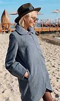 Пальто 334120/3 42 серый