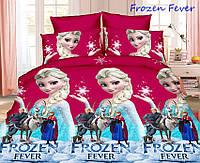 Детское постельное белье 150*220 см Ранфорс Холодное сердце (Frozen Fever) для девочки