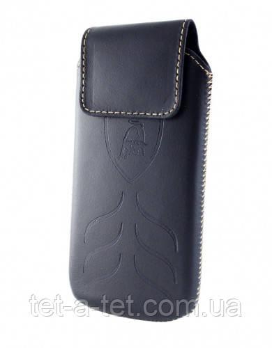 Чехол-вытяжка Lamborghini Nokia 206 (кожа) Чёрный