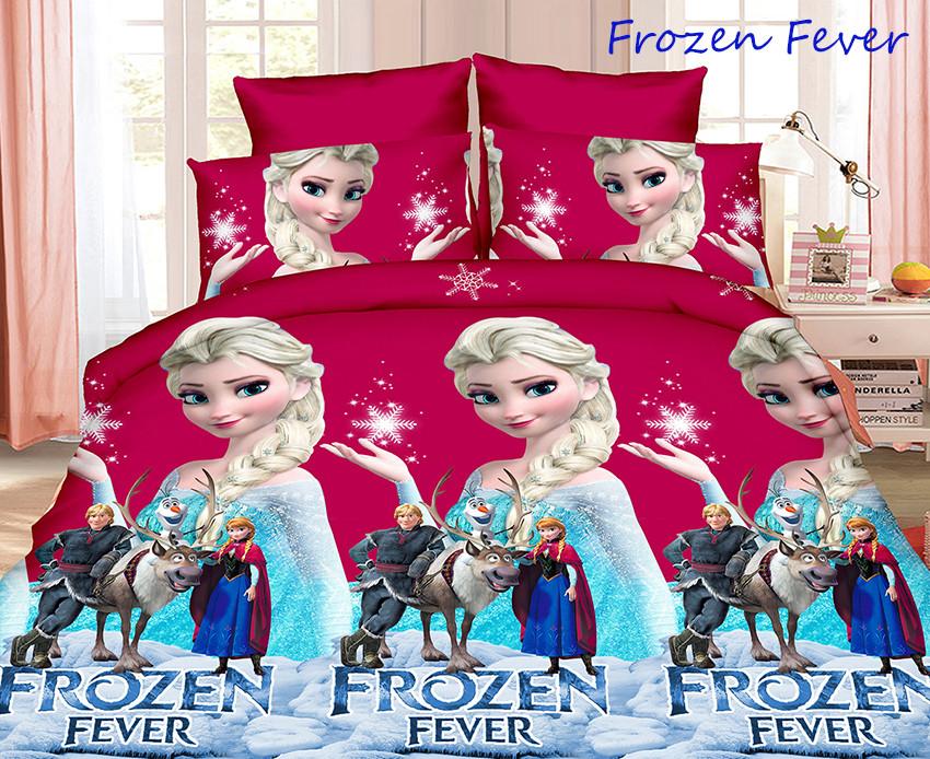Детское полуторное постельное белье Холодное сердце Frozen Fever