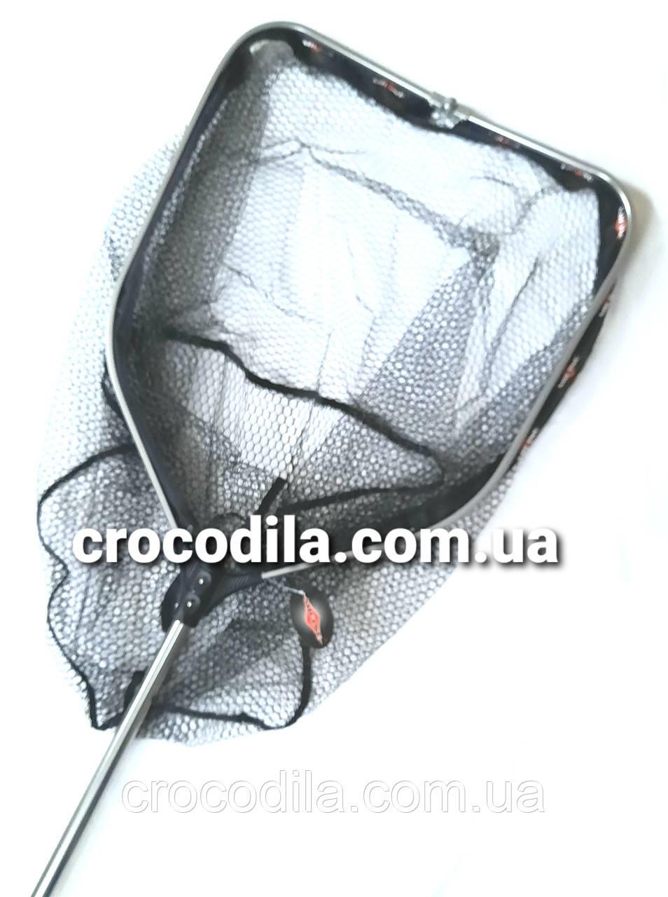 Раскладной карповый подсак с прорезиненой сеткой Mifine