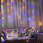 Гирлянда Штора на леске Лучи росы, 200 LED, Мультицветная, прозрачный провод (леска), 3х1м., фото 4