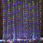 Гирлянда Штора на леске Лучи росы, 200 LED, Мультицветная, прозрачный провод (леска), 3х1м., фото 9