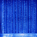 Гирлянда Штора на леске Лучи росы, 200 LED, Голубая (Синяя), прозрачный провод (леска), 3х1м., фото 2