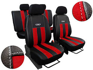 Автомобильные чехлы универсальные Pok-ter GT из алькантары и экокожи цвет красный
