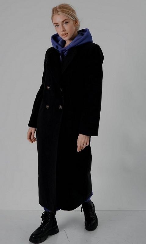 Пальто утелпенное 858556 48/52 чёрный