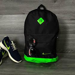 Черный с салатовым дном городской рюкзак Nike