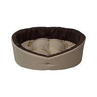 Мягкий бежевый лежак для собак и кошек