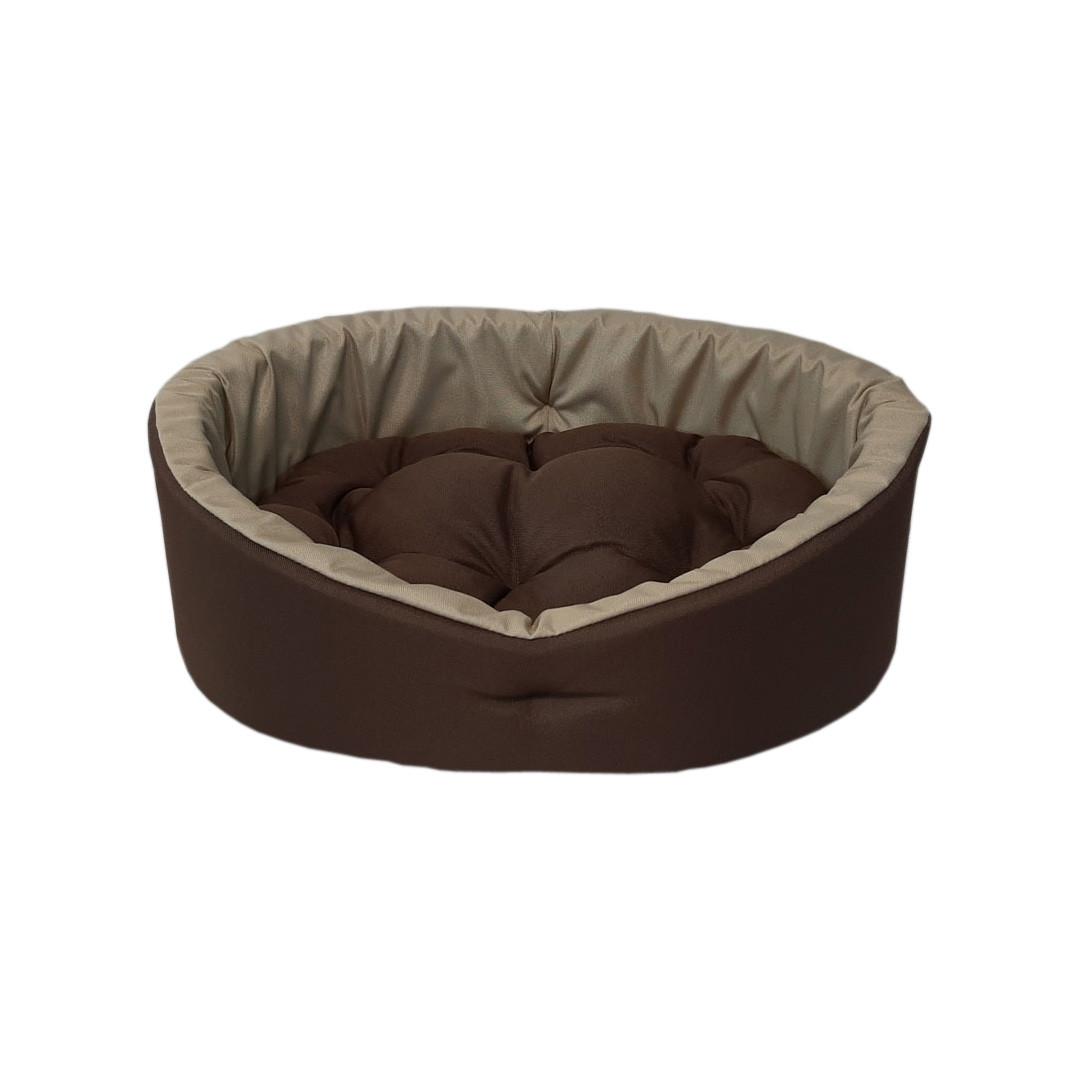 М'який коричневий лежак для собак і кішок