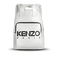 Стильный повседневный городской кожаный женский рюкзак белого цвета