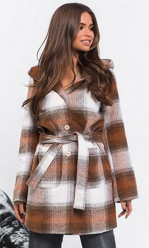 Пальто 334110/3 44 коричневый