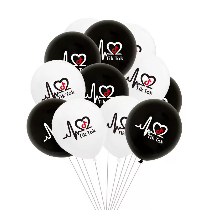 """Повітряні кульки я люблю тік ток асорті 12"""" (30 см) 8 шт"""