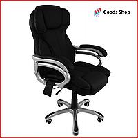 Кресло офисное массажное Bonro M8074 кресло компьютерное с функцией массажа для офиса с массажем кресло черное