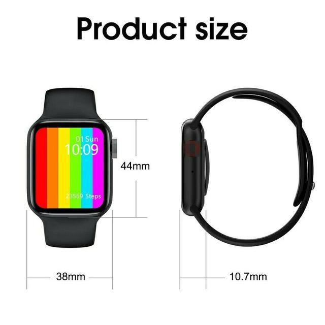 Смарт часы Lemfo W26 c термометром, пульсометром, тонометром, ЭКГ черные
