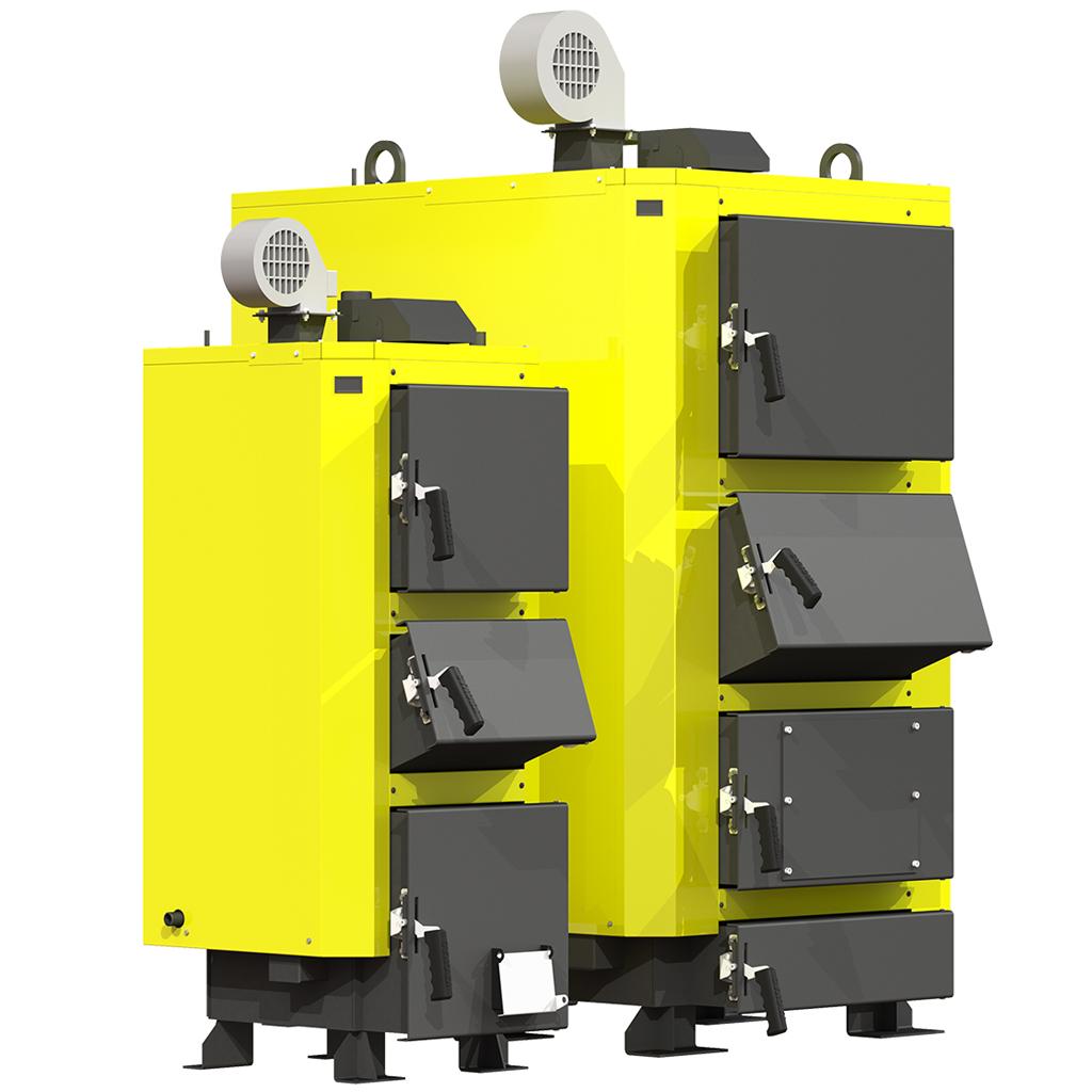 Сталевий твердопаливний котел тривалого горіння KRONAS UNIC NEW потужністю 27 кВт