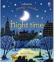 Книга с окошками Peep inside Night Time. Usborne