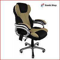 Кресло офисное массажное Bonro M8074 кресло компьютерное с функцией массажа для офиса с массажем зеленое