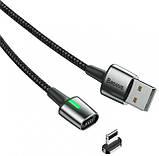 USB Cable Baseus Zinc Fabric Magnetic Lightning Black 2m, фото 2