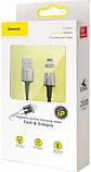 USB Cable Baseus Zinc Fabric Magnetic Lightning Black 2m, фото 4