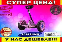 Гироскутер Mini сигвей фиолетовый космос +Bluetooth колонка