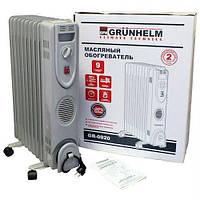 Обігрівач масляний Grunhelm GR-0920, 2 кВт, 9 секций, защита от перегрева, термостат (гарантия 12 месяцев)