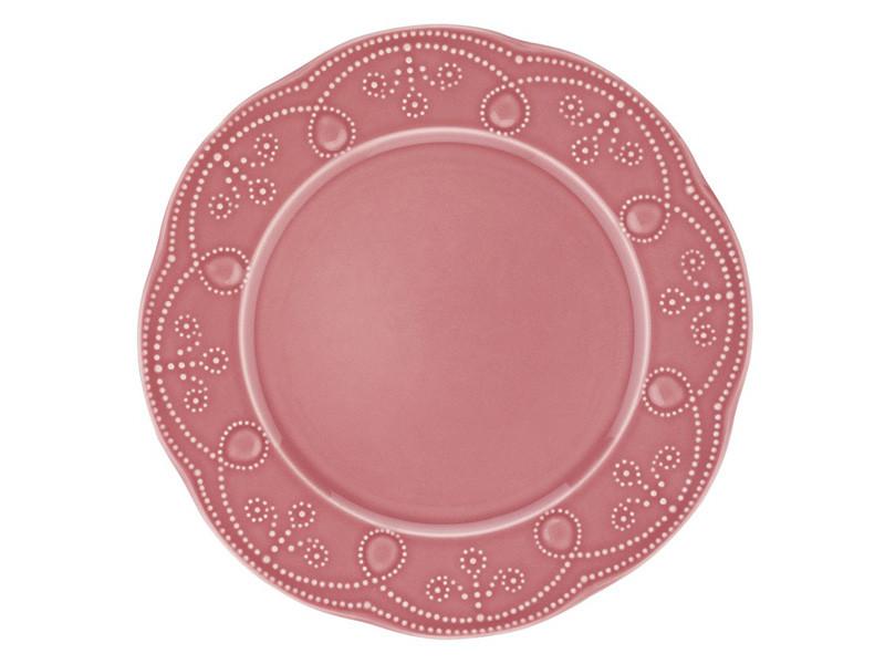 Керамічна тарілка рожева Фулия Кутахия Туреччина 22см 942-011