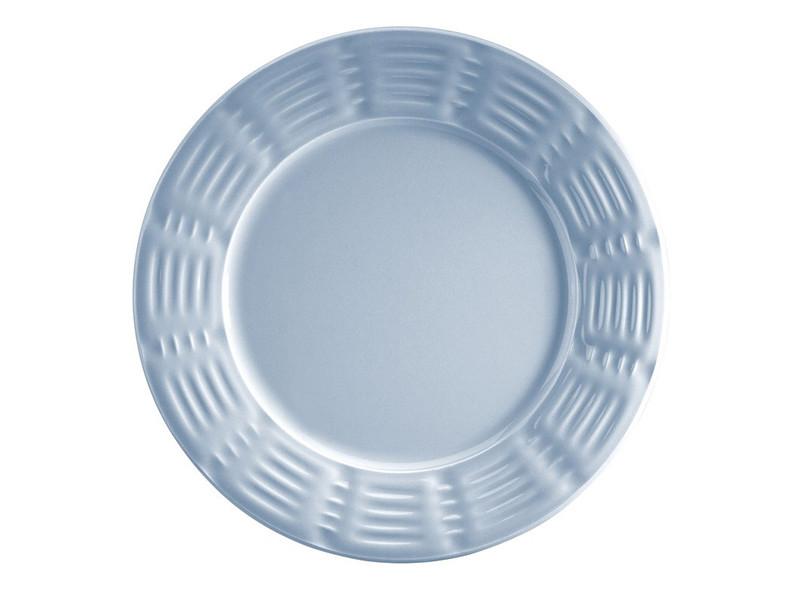 Голубая керамическая тарелка Руби Кутахия Турция 21см 942-025