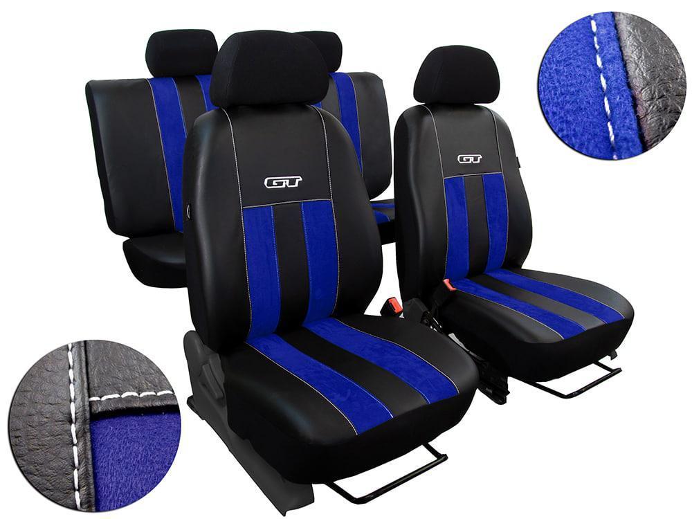 Автомобильные чехлы универсальные Pok-ter GT из алькантары и экокожи цвет синий