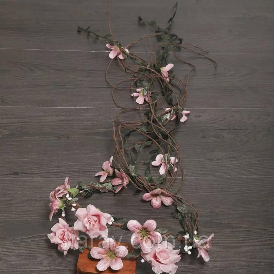 Венок на голову с цветами , Веночек Тиара