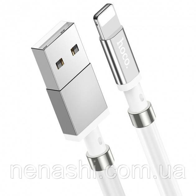 USB Cable Hoco U91 Magic Magnetic Lightning White 1m