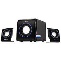 Колонки CROWN CMS-3704 Black 2.1 с подсветкой | акустическая система | акустична система (Гарантия 12 мес)