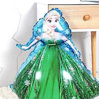 Фольгированный фигурный шар принцесса эльза в зеленом платье 70*52 см