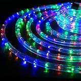 Разноцветная Уличная Гирлянда 10 метров Силиконовый Шланг LED Светодиодная Влагозащитная, фото 4