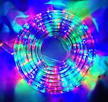 Разноцветная Уличная Гирлянда 10 метров Силиконовый Шланг LED Светодиодная Влагозащитная, фото 5