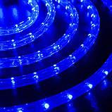 Синяя Неоновая Уличная Гирлянда 10 метров Силиконовый Шланг LED Светодиодная Влагозащитная, фото 3