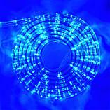 Синяя Неоновая Уличная Гирлянда 10 метров Силиконовый Шланг LED Светодиодная Влагозащитная, фото 5