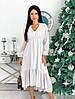 Женское асимметричное шифоновое платье миди