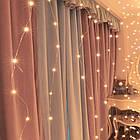 Гирлянда Штора на леске Лучи росы, 600 LED, Золотая (Желтая), прозрачный провод (леска), 3х3м., фото 2