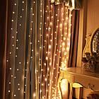 Гирлянда Штора на леске Лучи росы, 600 LED, Золотая (Желтая), прозрачный провод (леска), 3х3м., фото 3