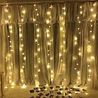 Гирлянда Штора на леске Лучи росы, 600 LED, Золотая (Желтая), прозрачный провод (леска), 3х3м., фото 7
