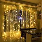 Гирлянда Штора на леске Лучи росы, 600 LED, Золотая (Желтая), прозрачный провод (леска), 3х3м., фото 8