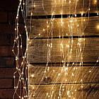 Гирлянда Штора на леске Лучи росы, 600 LED, Золотая (Желтая), прозрачный провод (леска), 3х3м., фото 10